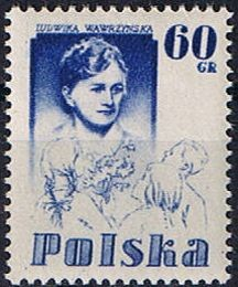 Colnect-466-465-Ludwika-Wawrzynska-with-children.jpg