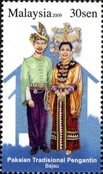 Colnect-403-557-Traditional-Wedding-Costumes--Bajau-People.jpg