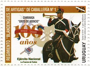 Colnect-5105-959-Cenenary-of-the-Blandengues-de-Artigas-Cavalry-Regiment.jpg