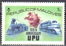 Colnect-844-928-UPU-emblem-old-and-new-trains.jpg