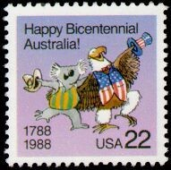 Colnect-199-551-Caricature-of-an-Australian-Koala-and-an-American-Bald-Eagle.jpg
