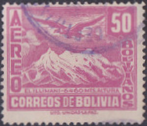 Colnect-847-938-Mt-Illimani-and-Condor.jpg