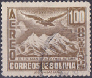 Colnect-847-939-Mt-Illimani-and-Condor.jpg
