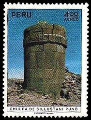 Colnect-1617-396-Archaeological-Monuments---Funerary-Tower-Sillustani-Puno.jpg