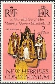 Colnect-1320-873-The---Blessing----Coronation-Ceremony-in-Westminster-Abbey.jpg
