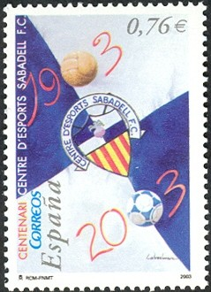 Colnect-594-531-Centenary-of-the-Centre-D--Esports-Sabadell-Football-Club.jpg