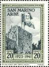 Colnect-507-368-Flags-of-San-Marino-and-Italy-on-Arbe-tower.jpg