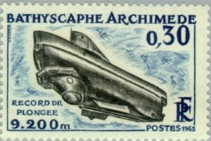Colnect-144-369-Bathyscaphe-Archimedes-Diving-record-9200-m.jpg