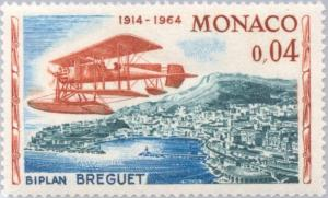 Colnect-147-956-Plane--quot-Breguet-quot--over-Monte-Carlo.jpg