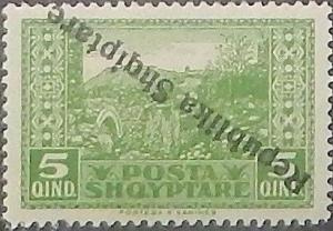 Colnect-3901-787-Albanian-Repulic-inverted-overprint.jpg