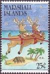 Colnect-3100-572-Reindeer-hut-and-palm-trees.jpg