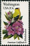 Colnect-5097-158-Washington---American-Goldfinch-Rhododendron-.jpg