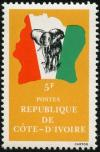 Colnect-3704-175-Elephant-in-front-of-map-of-Ivory-Coast.jpg