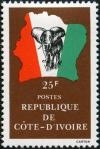 Colnect-3704-177-Elephant-in-front-of-map-of-Ivory-Coast.jpg