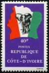 Colnect-3704-179-Elephant-in-front-of-map-of-Ivory-Coast.jpg