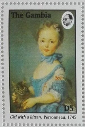 Colnect-4889-813-Girl-with-a-kitten-by-Perronneau.jpg