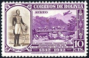 Colnect-2292-796-General-Jose-Ballivian---old-and-modern-transportation.jpg