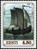Colnect-4832-258-Kurenas-fishing-boat-16th-C---Lithuania.jpg