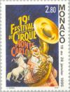 Colnect-149-733-Clown-with-sousaphone-horses.jpg