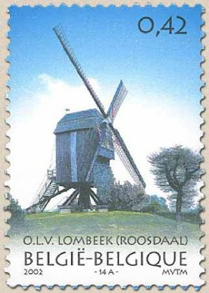 Colnect-561-322-Portugal-Azores-Belgium-Joint-Issue-Windmill-OLVLombeek.jpg