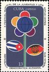 Colnect-2421-767-Sitylized-flower-and-flags.jpg