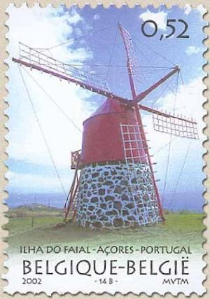Colnect-561-323-Portugal-Azores-Belgium-Joint-Issue-Windmill-Ilha-Do-Faial.jpg