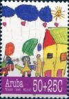 Colnect-982-042-Children-with-balloons-house.jpg