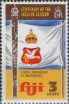 Colnect-1685-165-Cakobau-Club-and-Flag.jpg