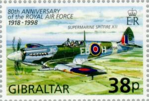 Colnect-120-897-80th-Anniversary-of-the-Royal-Air-Force-1918-1988.jpg
