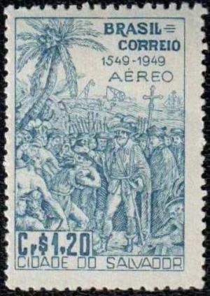 Colnect-769-916-4th-centenary-of-Salvador-city-construction-and-Installation.jpg