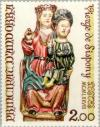 Colnect-141-952-Holy-Mary-with-child--Sculpture-from-the-Church-of-St-Joan.jpg