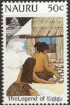 Colnect-1209-413-Girl-sitting-outside-a-Hut.jpg
