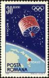 Colnect-4968-112-Communications-satellite--quot-Syncom-3-quot--over-Japan--amp--olympic-rin.jpg