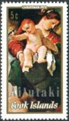 Colnect-3150-571-Madonna-of-the-Swallow-by-Guercino-optd-Aitutaki.jpg