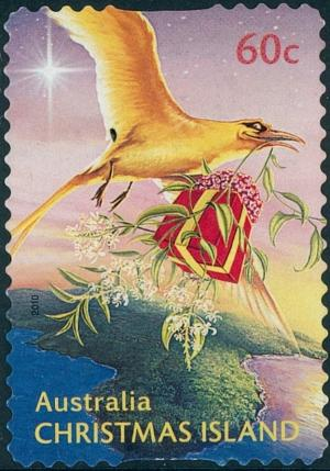 Colnect-2749-610-Golden-Bosunbird-delivering-it-s-Christmas-Gift.jpg
