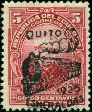 Colnect-3957-625-Overprint-Quito-Esmeralda-1926-and-Locomotive.jpg