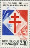 Colnect-145-972-De-Gaulle--s-Call-for-French-Resistance-50th-anniversary.jpg