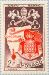 Colnect-147-555-Pontifical-insignia--Monaco-coat-of-arms--Concorte-deed.jpg