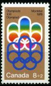 Colnect-1410-561-Symbol-of-the-Montreal-Games.jpg