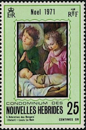 Colnect-5706-914-Adoration-of-the-Child-by--Le-Nain.jpg