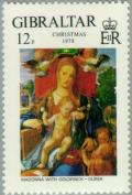 Colnect-120-316-Christmas-1978---Madonna-with-Goldfinch-Durer.jpg